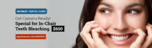 GET CAMERA READY WITH OUR IN-CHAIR TEETH BLEACHING